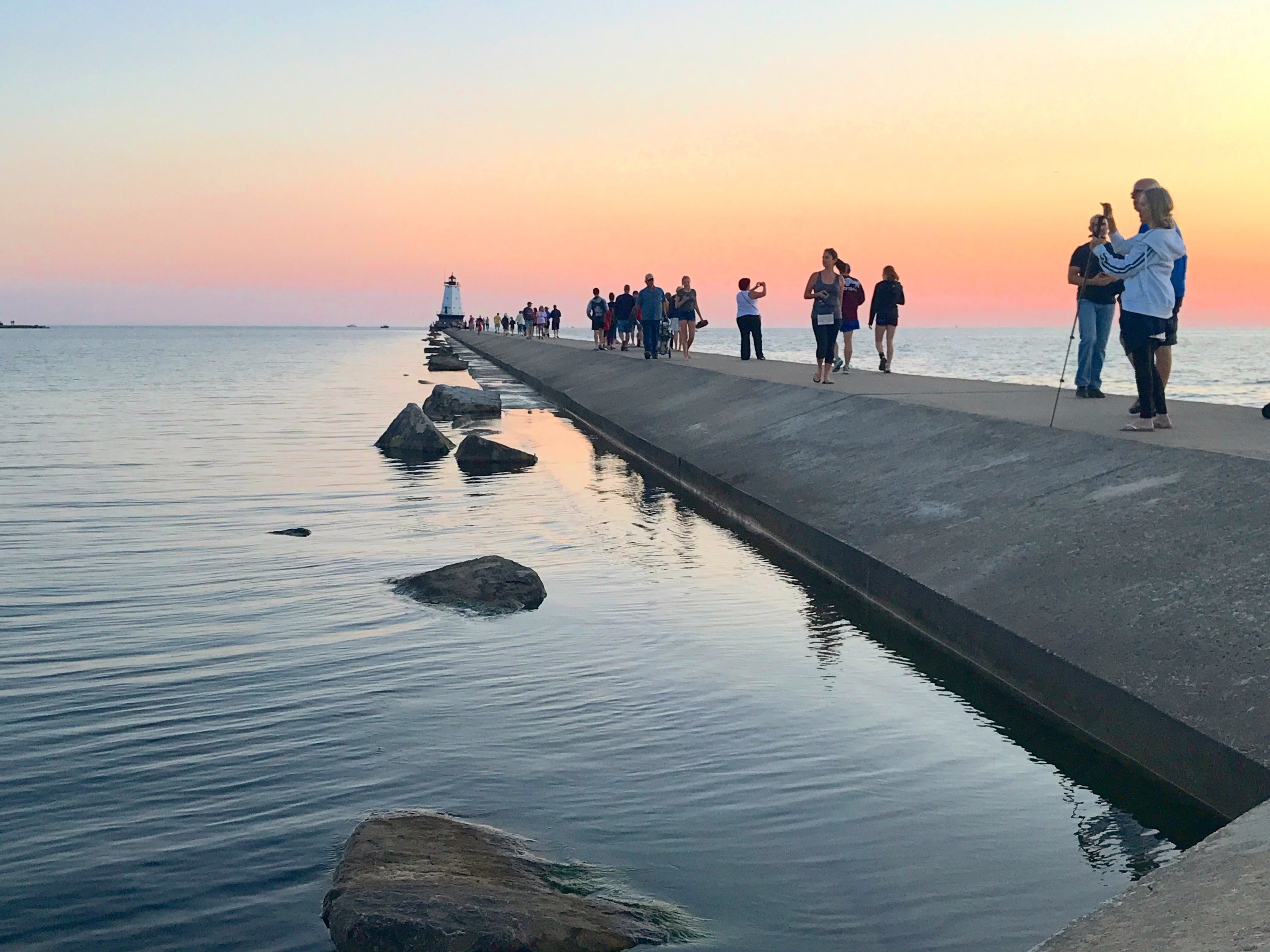 Copy of Ludington North Breakwater Sunset - B Henderson.JPG